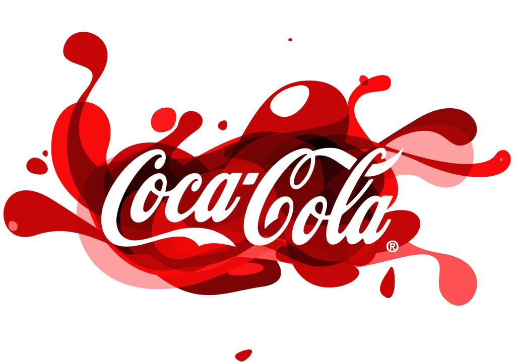 Un logo stilizzato della Coca-Cola