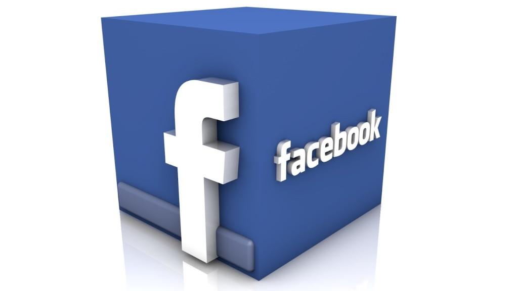 Il logo di Facebook in 3D