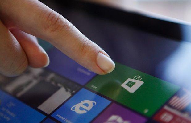 Microsoft Windows 8 touchscreen