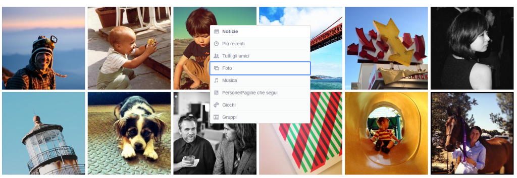 Facebook news feed filtri esclusivi