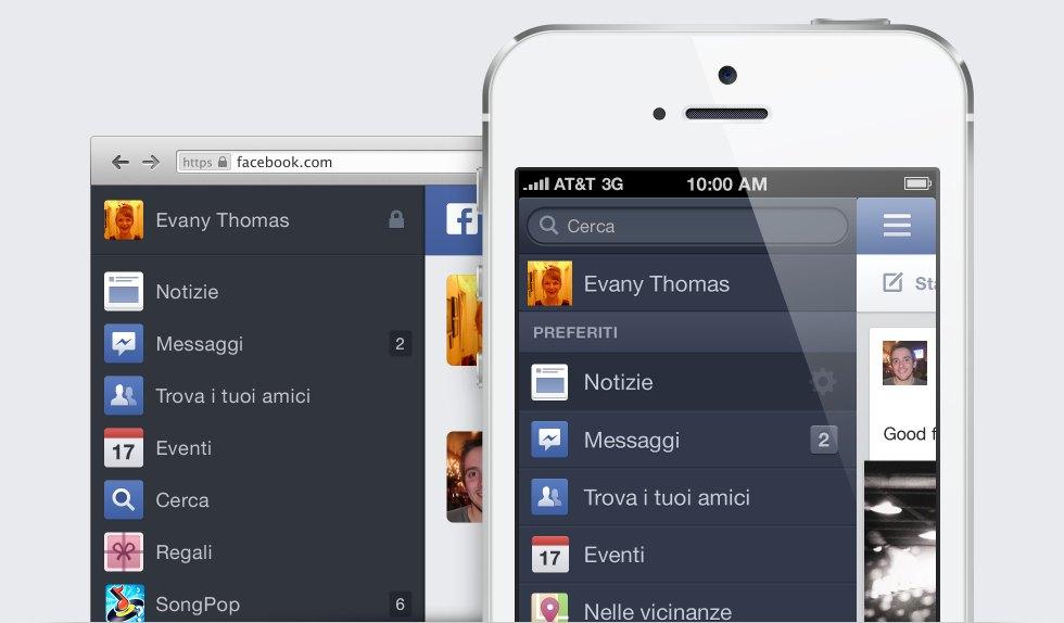 Facebook news feed mobile