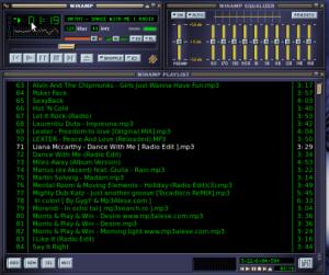 La schermata originale della prima versione di Winamp.