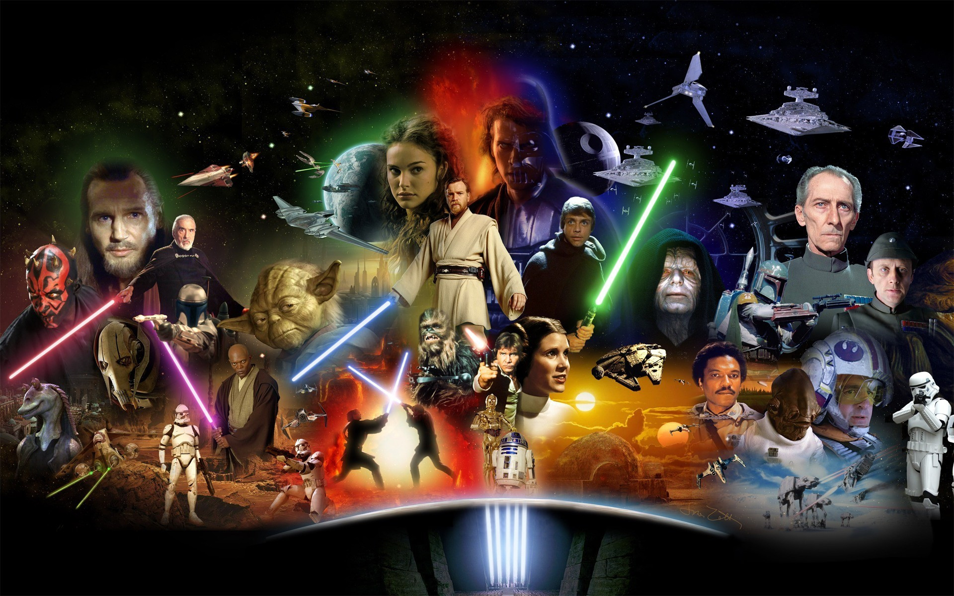 Una splendida immagine con i protagonisti Star Wars