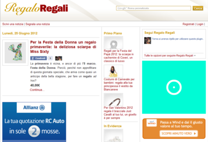 Regalo Regali Homepage