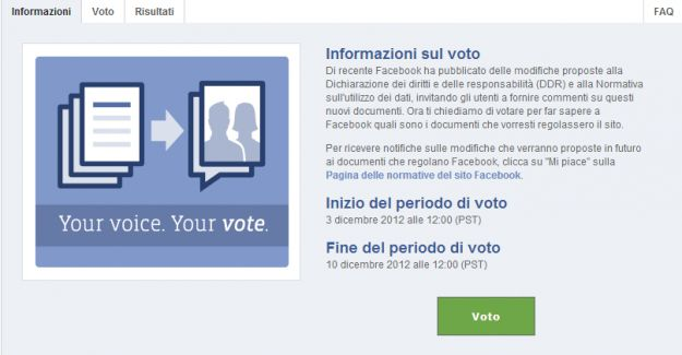 Referendum per privacy Facebook